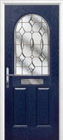 2 panel 1 arch style composite doors