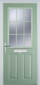2 panel 1 grill style composite doors
