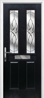 2 panel 2 square elegance black front door