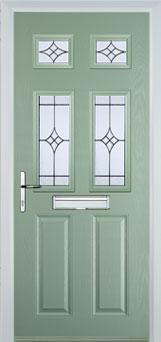 Composite green doors