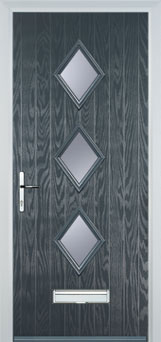 Diamond 3 Composite Door in Grey