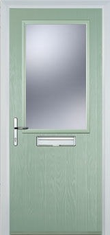 Cottage Half Glazed Composite Fd30 Fire Door In Chartwell
