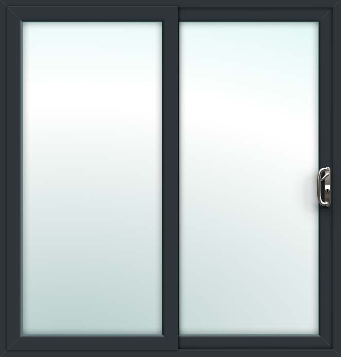 Grey 2 Pane Sliding Patio Doors