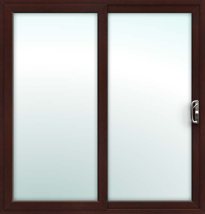 rosewood 2 pane sliding patio doors