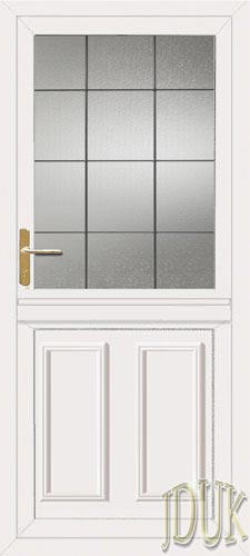 Clinton square lead upvc stable door for Ready made upvc doors