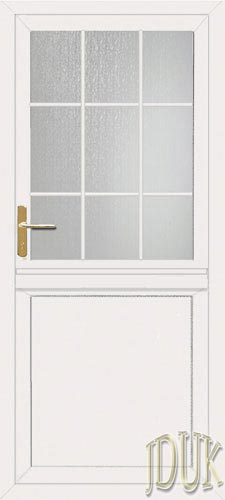 Flat panel georgian bar upvc stable door for Georgian style upvc french doors
