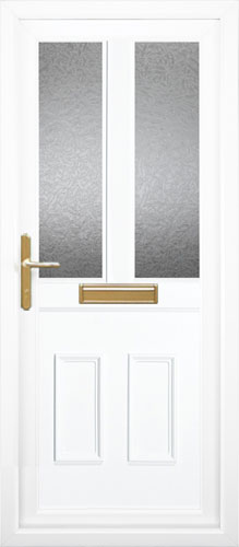 Clinton Half Panel Dual Glazed UPVC Front Door