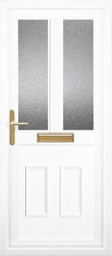 Clinton Half Panel Dual Glazed UPVC Front Door