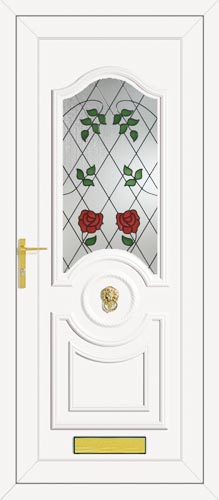 Buckingham One Classic Climbing Rose UPVC Front Door