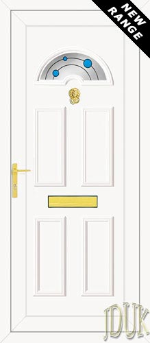 Carter One Blue Bubbles UPVC Front Door