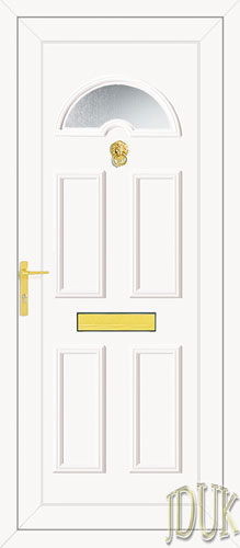 Carter One Glazed UPVC Front Door