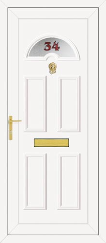 Carter One House Number UPVC Front Door