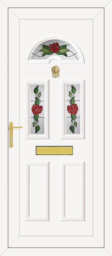 Carter Three Country Rose UPVC Front Door