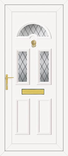 Carter Three Diamond Lead UPVC Front Door