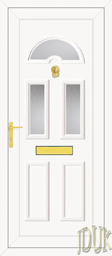 Carter Three Glazed UPVC Front Door