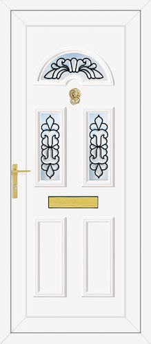 Carter Three Maryland (Coloured Bevel) UPVC Front Door