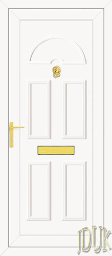 Carter Solid UPVC Back Door