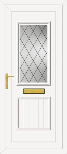 Chester One Diamond Lead UPVC Front Door