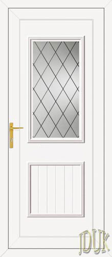 Chester One Diamond Lead UPVC Back Door