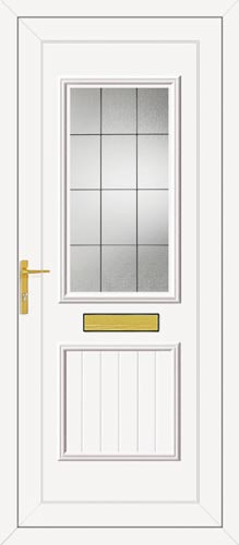 Chester One Square Lead UPVC Front Door
