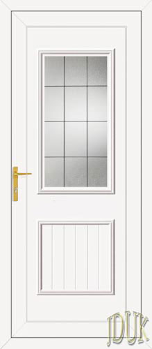 Chester One Square Lead UPVC Cottage Door