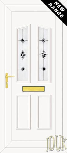 Clinton Two Black Fusion (Resin Sandblast) UPVC Front Door