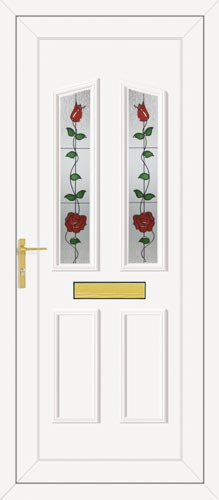 Clinton Two Climbing Rose UPVC Front Door