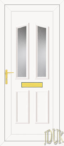 Clinton Two Glazed UPVC Front Door
