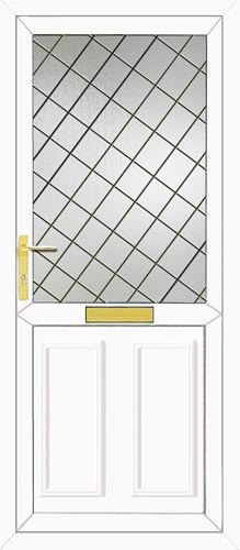 Clinton Half Panel Diamond Lead UPVC Front Door