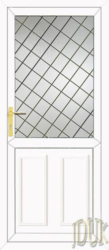 Clinton Half Panel Diamond Lead UPVC Cottage Door