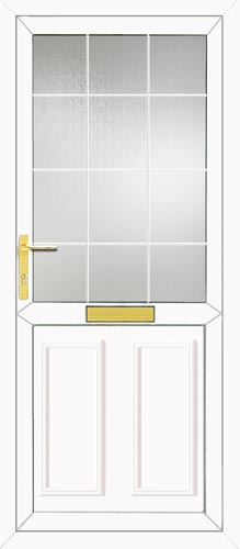Clinton Half Panel Georgian Bar UPVC Front Door