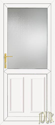 Clinton Half Panel UPVC Back Door