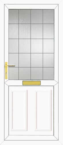 Clinton Half Panel Square Lead UPVC Front Door