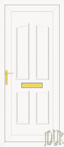 Clinton Solid UPVC Front Door