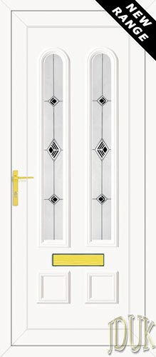 Grant Two Black Fusion (Resin Sandblast) UPVC Front Door