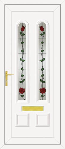 Grant Two Classic Climbing Rose UPVC Front Door