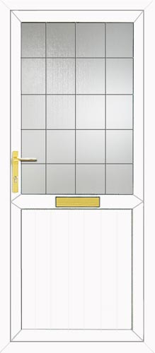 Groove Half Panel Square Lead UPVC Front Door