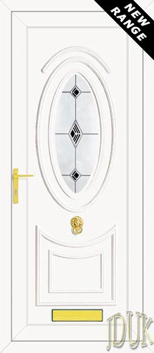 Jefferson One Black Fusion (Resin Sandblast) UPVC Front Door
