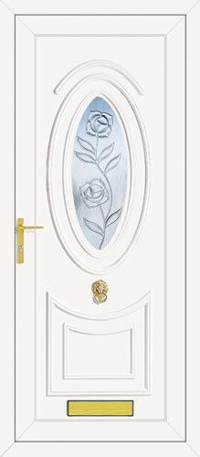 Jefferson One Climbing Rose UPVC Front Door
