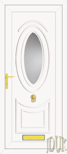 Jefferson One Glazed UPVC Front Door