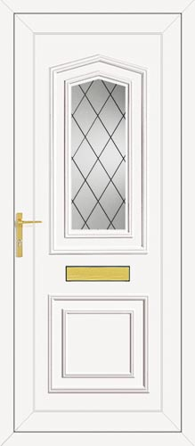 Johnson One Diamond Lead UPVC Front Door