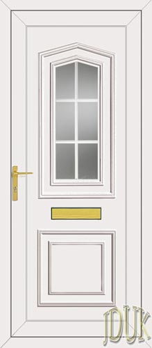 Johnson One Georgian Bar UPVC Front Door