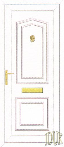 Johnson Solid UPVC Front Door