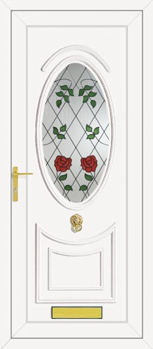 Kennedy One Classic Climbing Rose UPVC Front Door