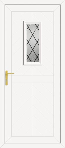 Monroe One Diamond Lead UPVC Front Door