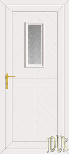 Monroe One Glazed UPVC Cottage Door