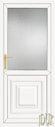Orleans Half Panel UPVC Back Door