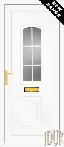 R400 Georgian Bar UPVC Front Door