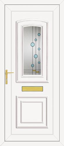 Reagan One Blue Bubbles UPVC Front Door