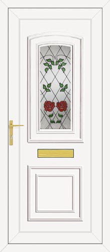Reagan One Classic Climbing Rose UPVC Front Door